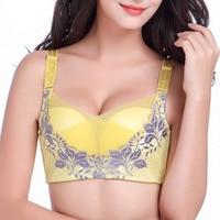 QA1133 High Quality Luxury Cross Mesh Boob Tube Top Sexy Embroidery Push Up Bras Women Wireless