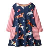 Baby Girls Dress Long Sleeve Vestidos Kids Unicorn Party Dresses for Girls Clothes Princess Dress Christmas Children Clothing