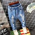 Meninos primavera Bebê Calça Jeans Buracos Quebrados Rasgado calças de Brim do Menino Da Criança Crianças Adolescentes Denim Calças Infantis Calças Criança Roupas