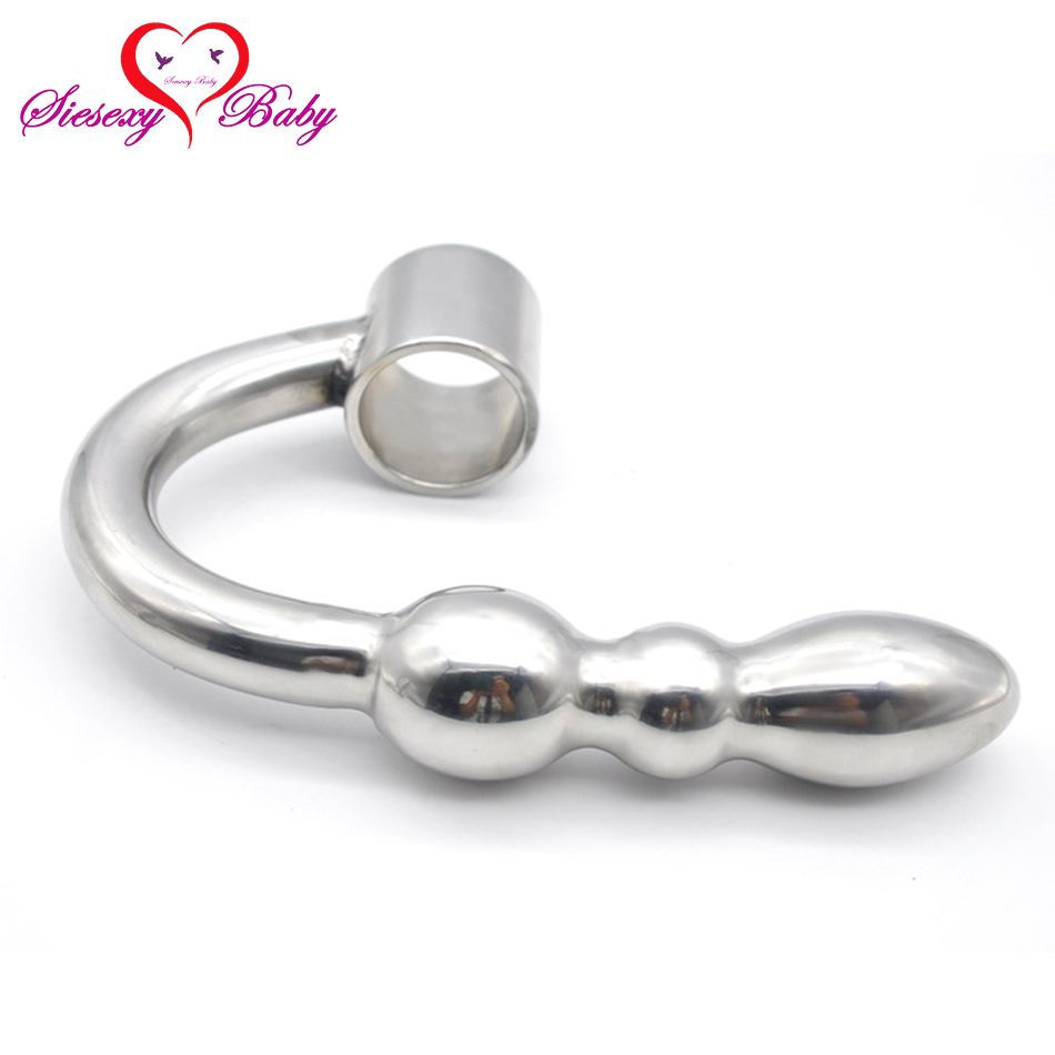 Large size metal jeweled huge butt plug with Ring steel crystal anal plug Anal beads sex