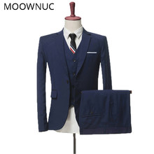 Jacket Trousers Vest Wedding dress Suits Two sets three sets Business Men Classic High-quality Suits MOOWMUC MWC 2019 4XL Brand(China)