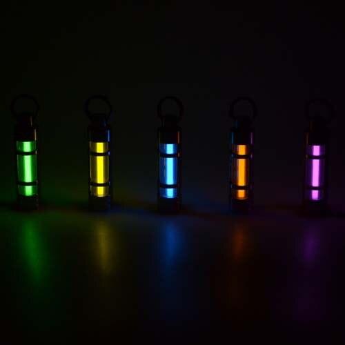 Automatique lumière Titane tritium trousseau fluorescent alliage néon tube de sauvetage d'urgence lumières tritium gaz pour 25 ans