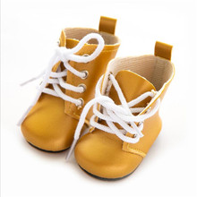 Born New Baby Doll Shoes Fit 18 inch 43cm Shoelaces Doll Accessories BJD White Black Red Pink Lace Boots For Baby Birthday Gift цены онлайн