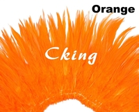 Wholesale 12 bundle (1kgs) Fantastic Costume Decoration Dyed Orange Rooster Saddle Feathers Strungs rolls 15 20cm 6 8inch