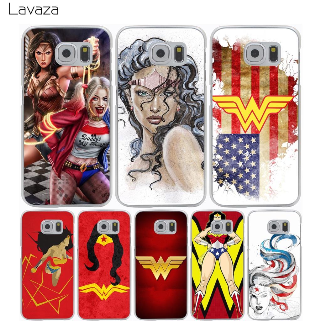 Lavaza Wonder Woman DC Superhero Case for Samsung Galaxy A3 A5 A8 J1 J2 J3 J5 J7 Prime 2016 2017 2018 Note 5 8