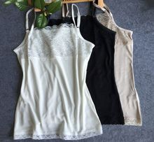 100% pure silk knitted tank tops summer basic for women multicolor
