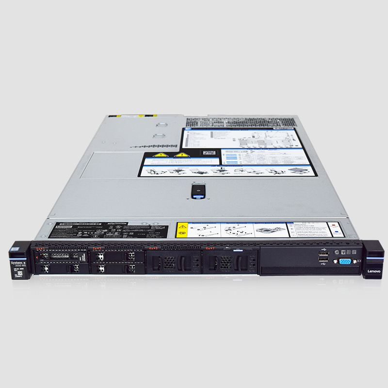 X3550 M5 Server Barebone System Supports Dual E5 V3 V4 DDR4 Memory M1215 Array Card 1U Silent Virtualized Cloud Computing