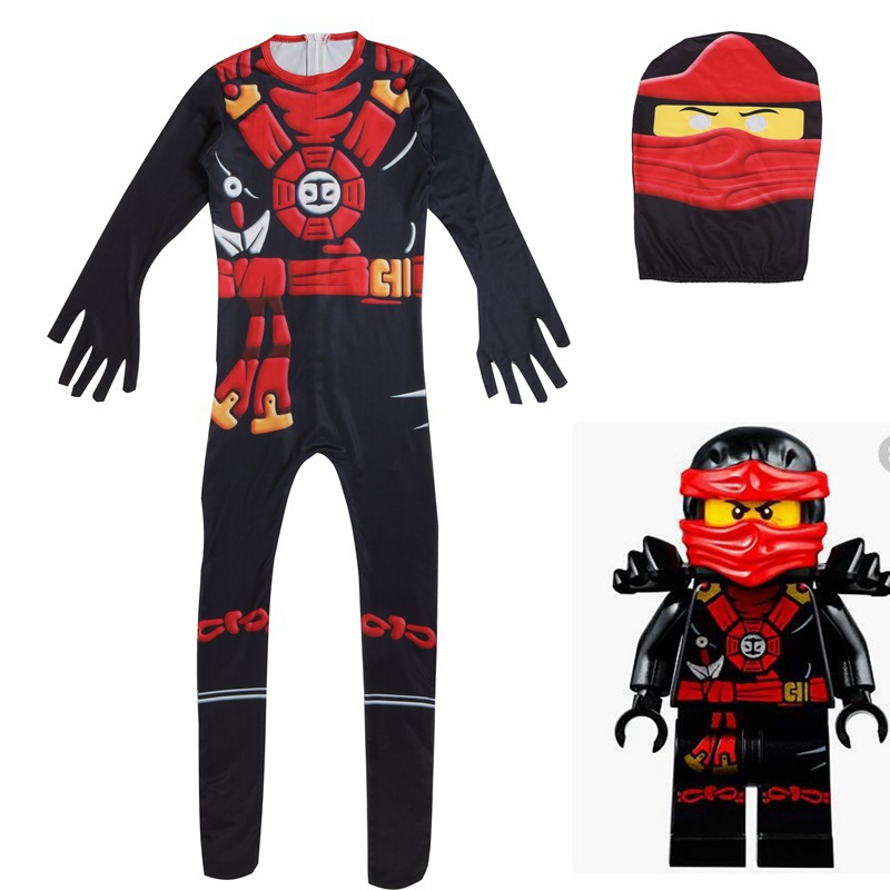 Image 3 - Ninjago Costumes Boys Ninja Costumes Kids Fancy Party Dress Up Halloween Costumes for Kids Ninjago Jumpsuits with Mask-in Clothing Sets from Mother & Kids