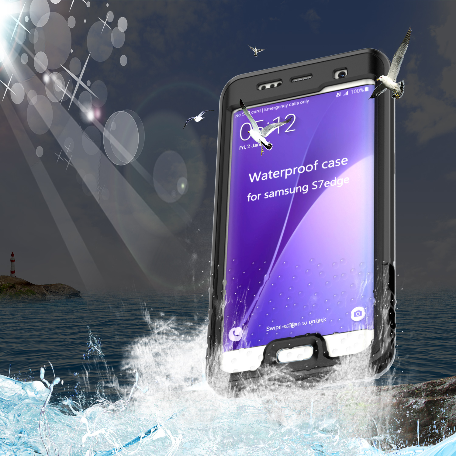 IP68 Waterproof Cover Case For Samsung Galaxy S7 S7 Edge Case Underwater 6M