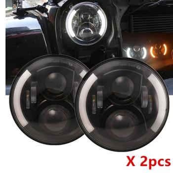 Car Accessories 7 Inch Headlight Led for Jeep Wrangler JK TJ LJ CJ Rubicon Sahara Unlimited White DRL Amber Turn Signal Headlamp