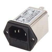 CW2A-10A-T EMI Macht filter AN-10A2FIL 10A eenfase socket met Verzekering box AC 115 V/250 V Filter Luchtreiniger