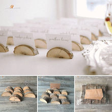 10pcs Table Numbers Rack Place Cards Wooden Wedding Decoration Signs Rustic Party on The Number Holder Supplies