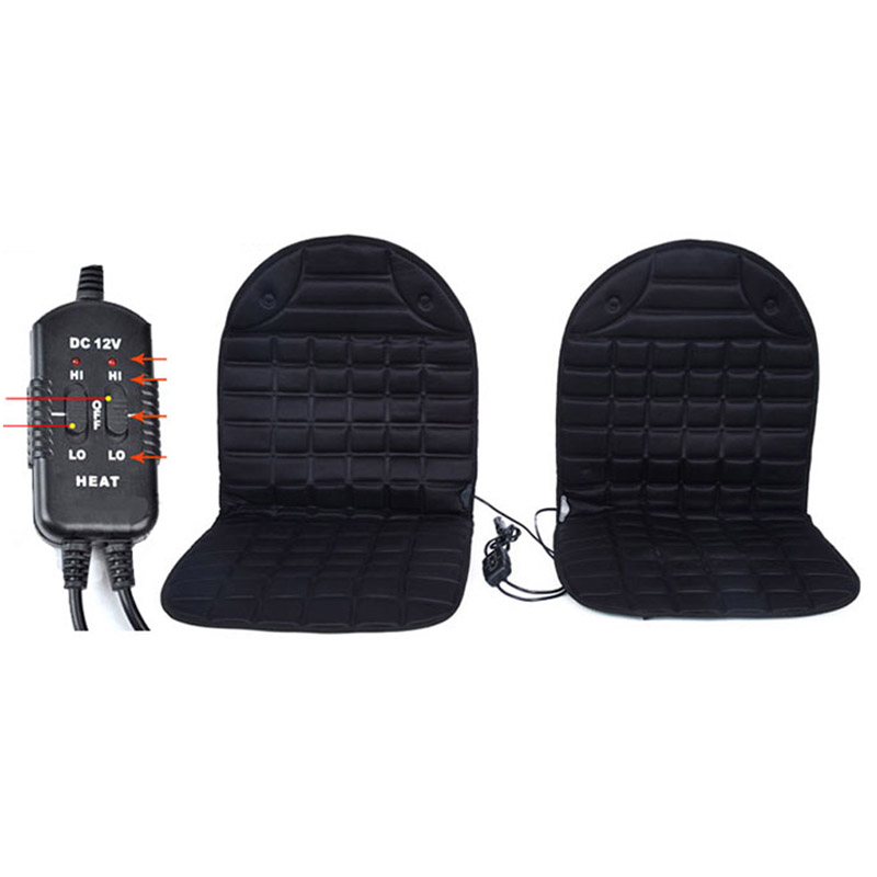 12v Electric Pair Heated Seat Covers Winter Car  Cushion Heating Keep Warm  Cushions Fit For Most Cars Quality Guarantee