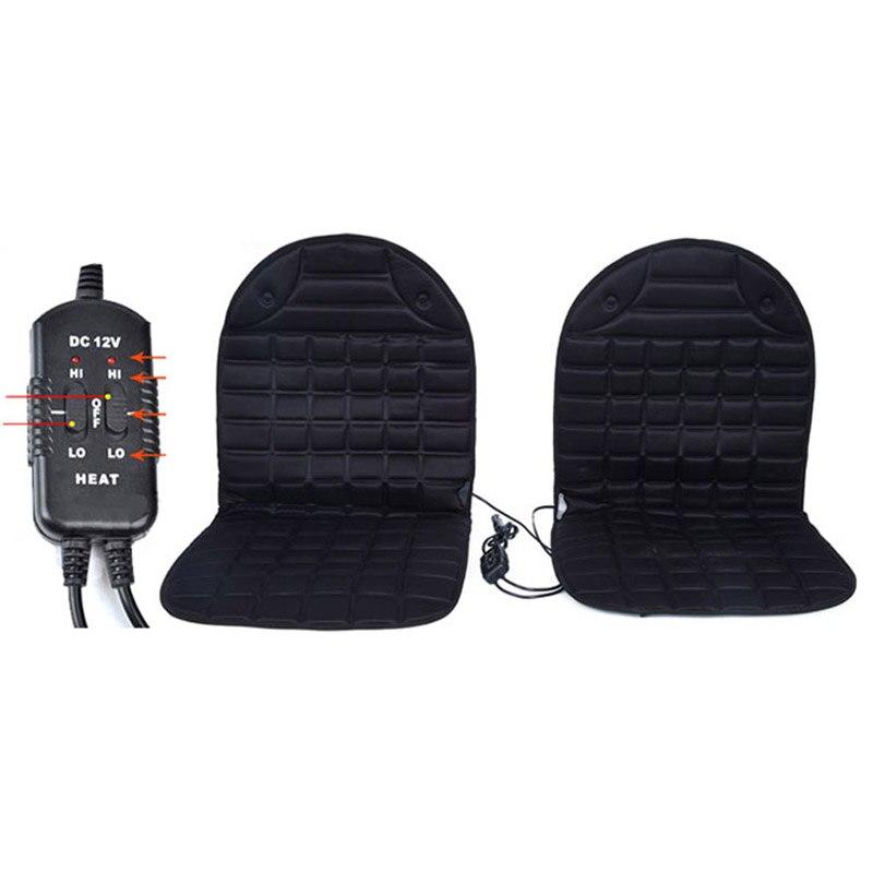 Fundas de asiento calefactadas de 12 V para asiento de invierno, almohadón para asiento, almohadones para el calor, aptos para la mayoría de los coches, garantía de calidad