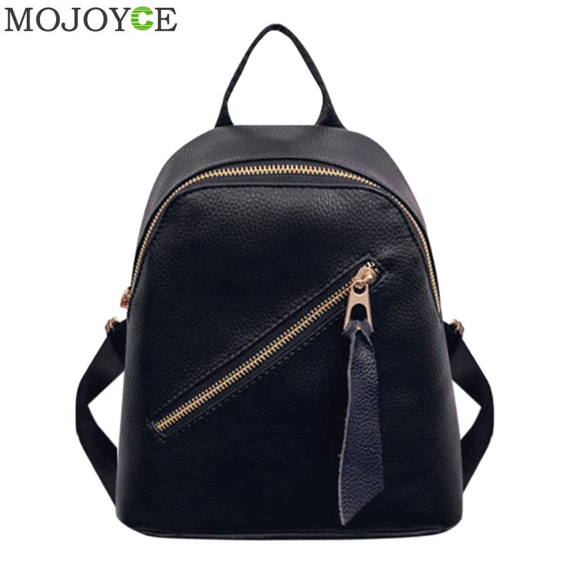 Women Zipper PU Leather Backpack School Bags for Teenager Girls Shoulder Bags Small Casual Backpacks Female Travel Daypack 2018 hanke 2018 women backpack student school bag for teenager girl fashion shoulder bags small bagpack female casual travel daypack