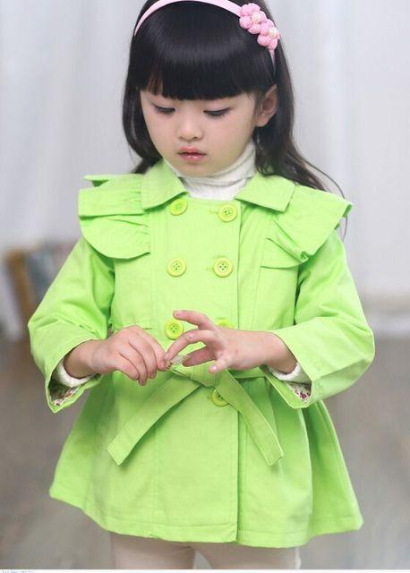 O novo 2016 moda casaco de meninas
