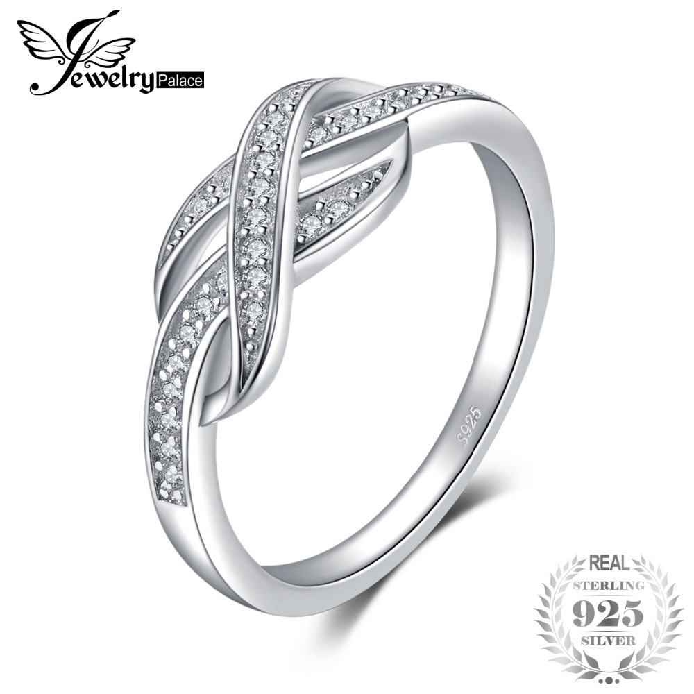 JewelryPalace Infinity 0.1ct Cubic Zirconia Band Ring a nők - Divatékszer