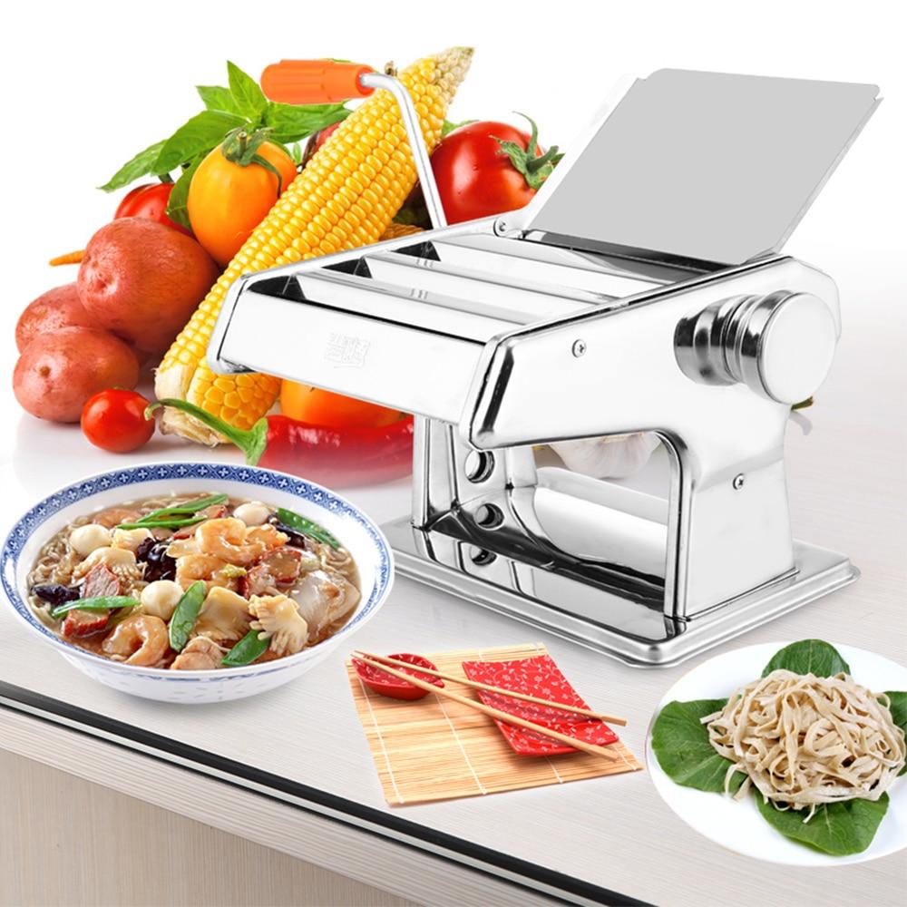 Resistente di Lunga Durata Maniglia In Acciaio Inox Pasta Maker Noodle Presse Macchina Spessore Regolabile Manuale Presse ing Macchina Z35