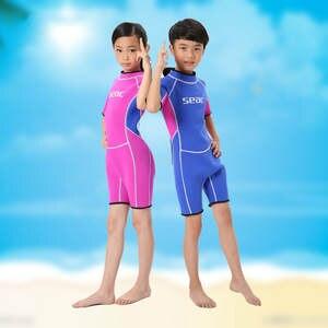 25670f3097 2.5 MM Short Sleeves Neoprene Wetsuits Boys Girls Surfing Children Rash  Guards Snorkel