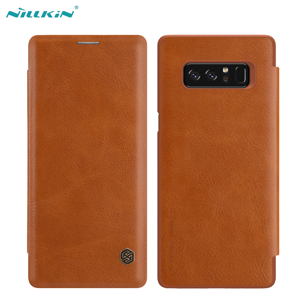 NILLKIN Qin Leather Case For Samsung Galaxy Note 8 Flip Case Luxury Vintage Cover Capinhas Coque