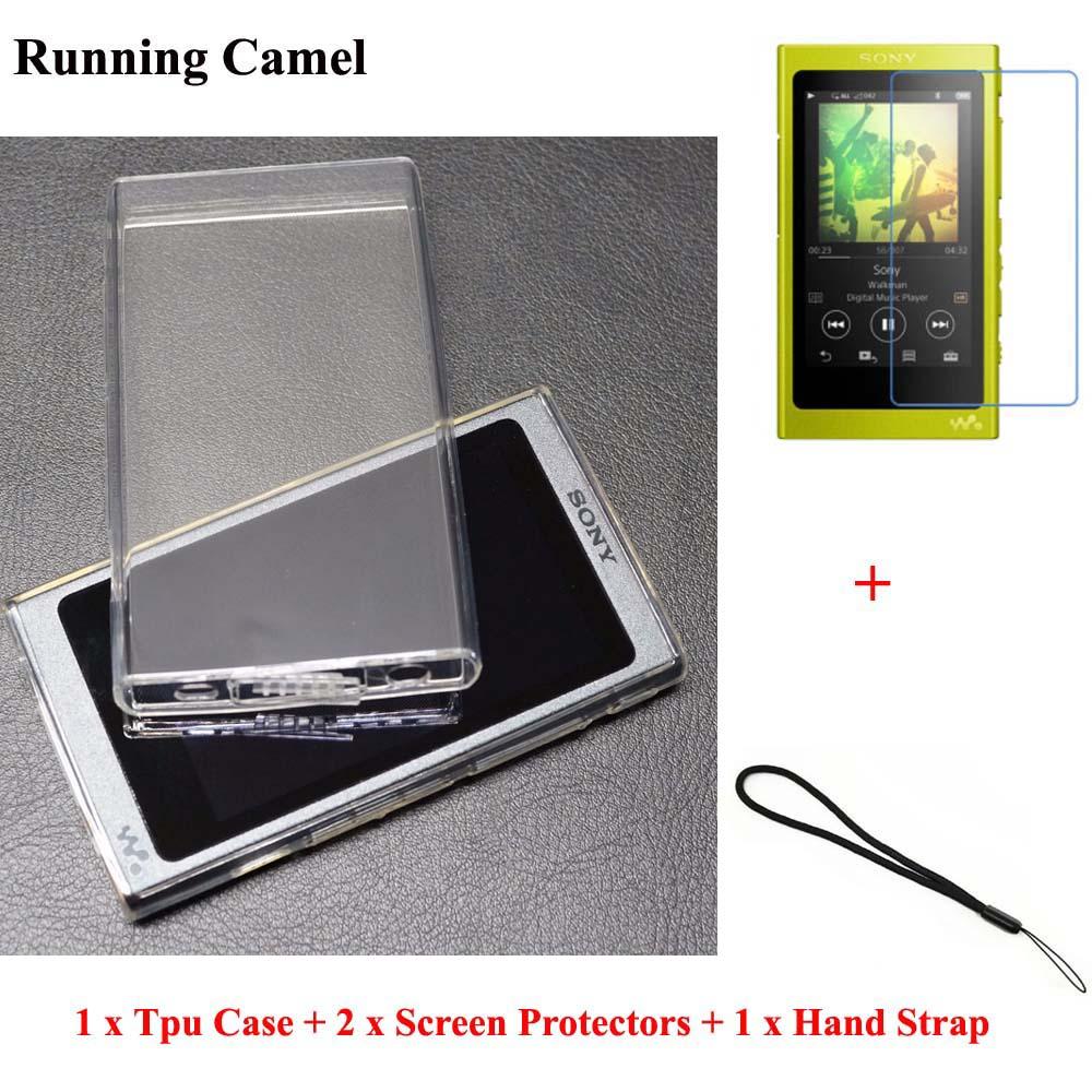 De course Chameau Doux TPU Cas Pour Sony Walkman NW A45 A47 A35 A36 A37 Écran Protecteur Sangle pour Sony A35HN a36HN A37HN