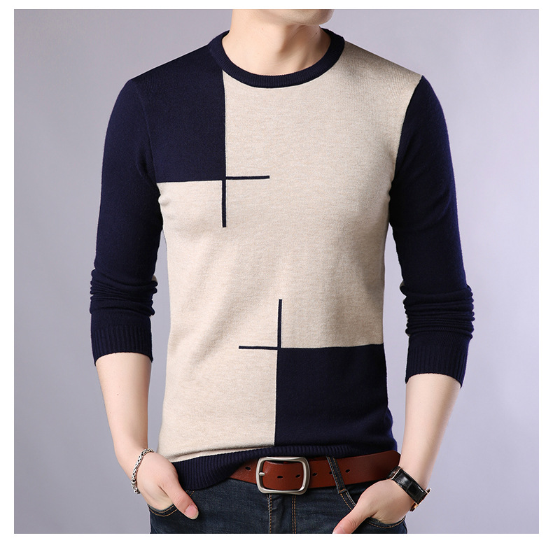 2020 Autumn Casual Men's Sweater O Neck Slim Fit Knittwear Mens Sweaters Pullovers Pullover Men Pull Homme M 3XL