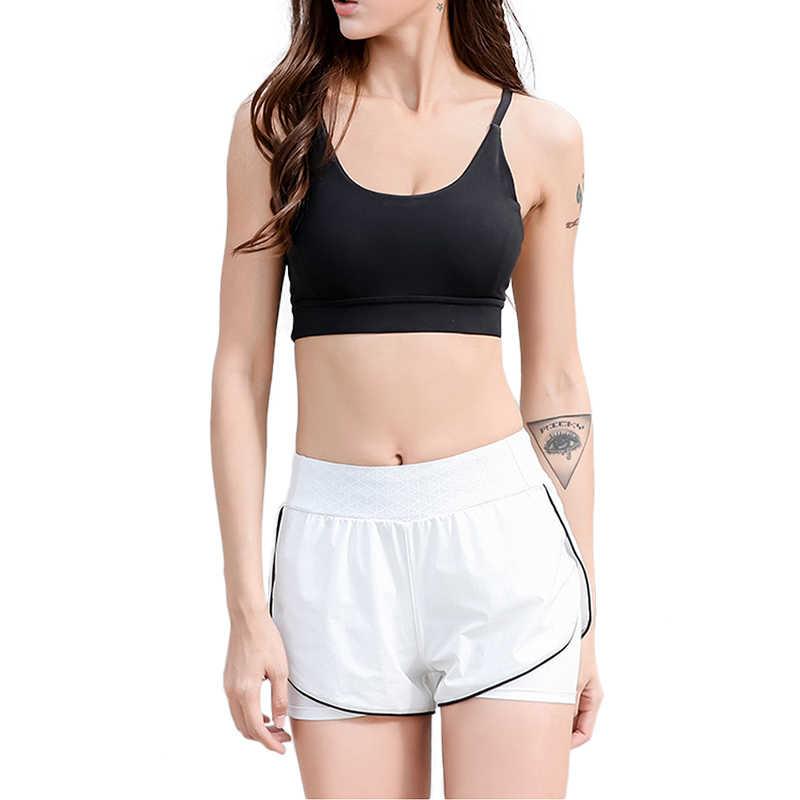 SEBOWEL Sexy High Waist Yoga Shorts Women Gym Fitness Training Quick Dry Breathable Sport Short Pants Girl Sport Running Shorts
