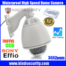 Waterproof outdoor auto tracking High speed sony effio CCD700tvl Camera Outdoor 36X Zoom  auto tracking  High Speed Dome Camera