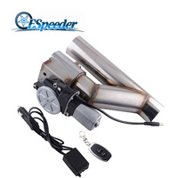 ESPEEDER High Performance Car Muffler 2.5 Stainless Steel Y Pipe Electric Exhaust Catback CutOut Kit With Remote Control
