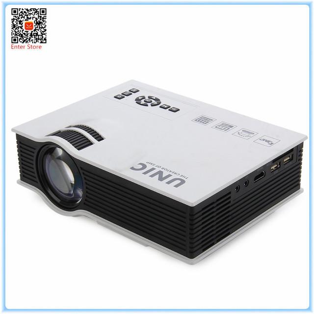Hdmi unic simplificado micro projetor uc40 + 800lm 800x480 pixels para o negócio em casa portátil de alta definição lcd projetor