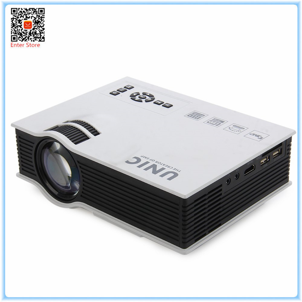 Original Projector UNIC UC40 UC40 Plus 800LM 800 480 Pixels Simplified Micro Projector For Home Business