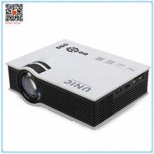 Original proyector unic uc40 + uc40 plus 800lm 800*480 píxeles simplificado micro proyector para el hogar negocio portátil lcd proyector