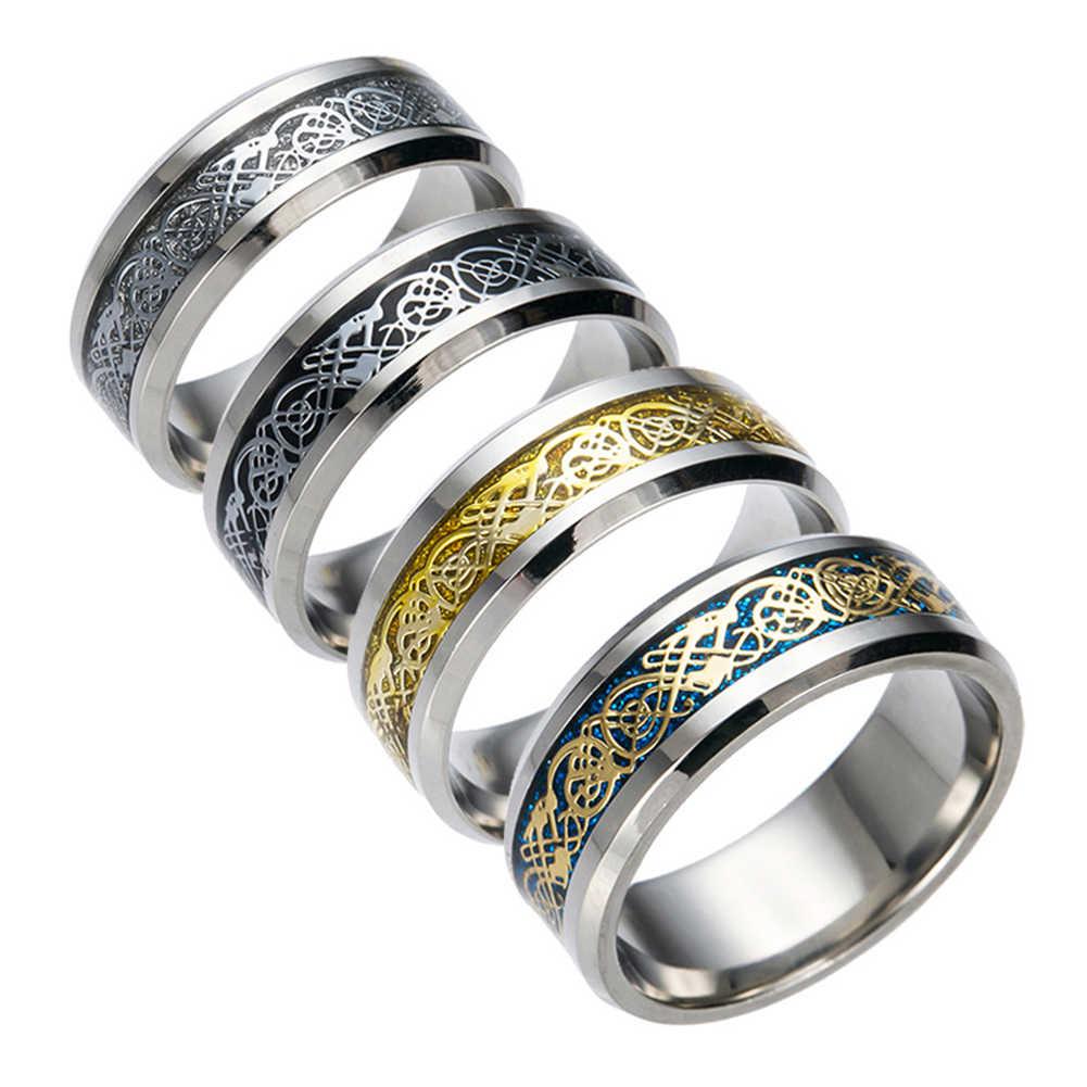 Elegante Dos Homens De Titânio de Aço Superfície Lisa Wedding Band Anel de Dedo Jóias Presente Para Mulheres Dos Homens