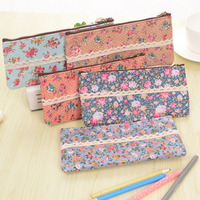 1pcs Fashion Mini Retro Flower Floral Lace Cosmetic Bag Multi-Function Zipper Make up Cosmetic Cases for Women Girls Ladies Cosmetic Bags
