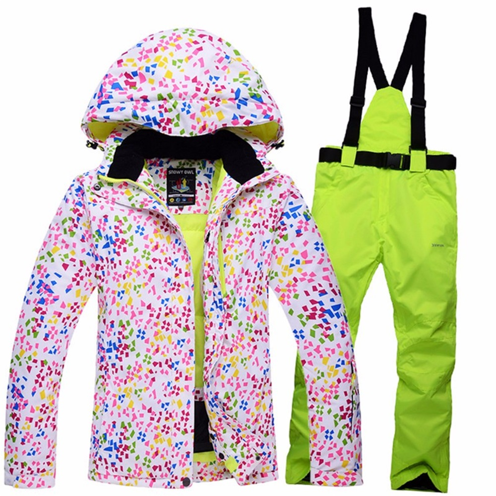 2016 New Woman Snow Ski Suits Female Outdoor Skiing Wear Hooded Jackets + Bandage Pants Set Womens Winter Sport snowboarding2016 New Woman Snow Ski Suits Female Outdoor Skiing Wear Hooded Jackets + Bandage Pants Set Womens Winter Sport snowboarding