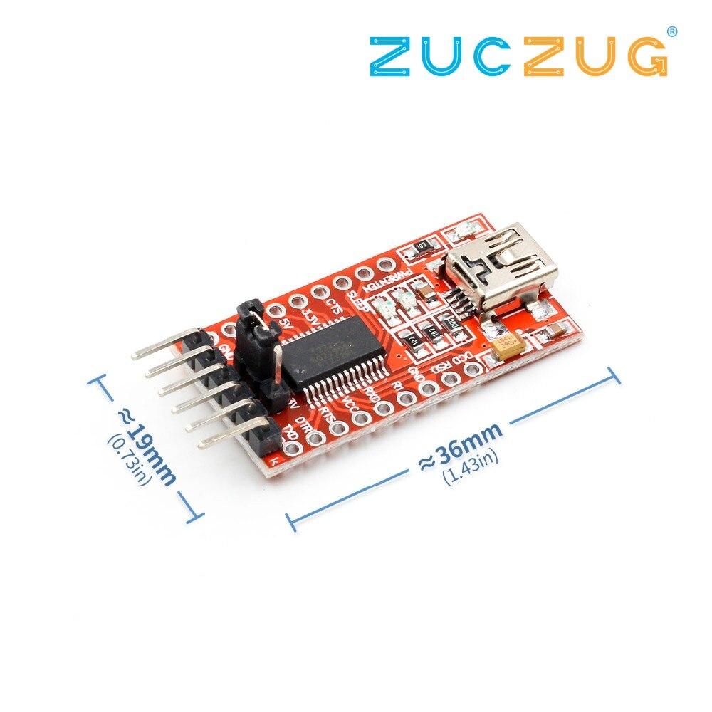 2pcs FT232RL 3.3V 5.5V FTDI USB to TTL Serial Adapter Module for Arduino