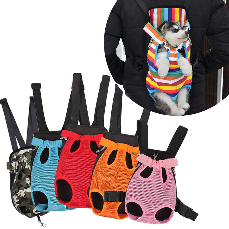 Fashion Dog Carrier Backpack Breathable Outdoor Travel Bag Pet Dog Front Bag Small Pet Double Shoulder Bag Pet Puppy Carrier
