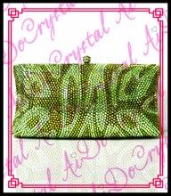 Aidocrystal Hohe qualität designer shinny grüne clutch abendtasche mit kristall