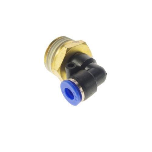 Lot25 6mm-3/8 Pneumatic Connectors Elbow Fitting BSPT 10pcs lot 4mm to 1 4 bspt elbow male air pneumatic quick connect jointer connectors fitting pl4 02
