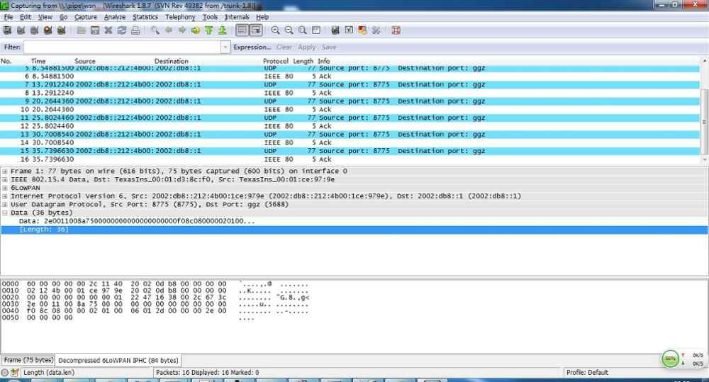 Detail Feedback Questions about CC2530 6Lowpan/IPv6/Zigbee capture