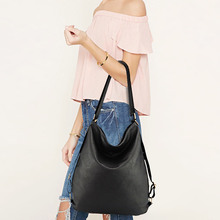 Artificial leather shoulder bag female big handbag women black color new arrival totes bags woman hobos