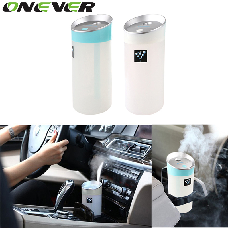 300ml Negative Ion Ultrasonic Humidifier Car Humidifier Air Purifier Aroma Diffuser Essential USB Charging Port Car Air Purifier