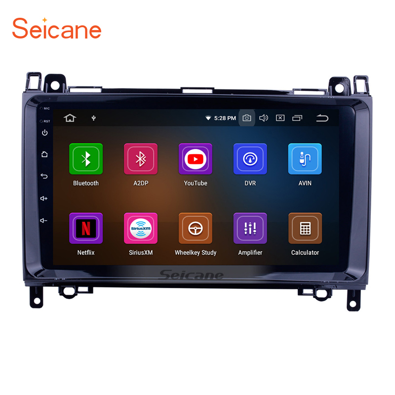 Seicane 1Din 9 inch Android 9 0 Car Radio GPS Multimedia Player For VW Crafter Mercedes