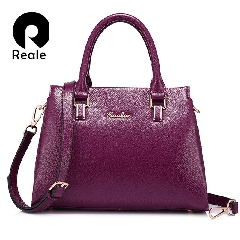 Realer marka kadınlar bez çantalar deri omuz çantası moda fermuar messenger çanta büyük kapasiteli çanta siyah/kahverengi