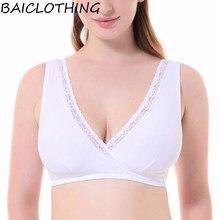 3fe90d870 Baiclothing confortável das mulheres tamanho grande copo macio sutiã sono  lingerie para as mulheres 34 36 38 40 42 44 46 48 B C .