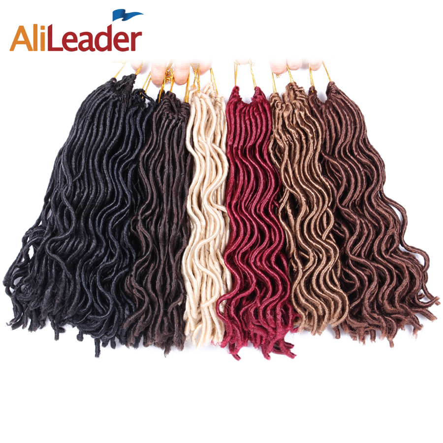 AliLeader Hair 24 Strands/Pcs Faux Locs Curly Crochet Braids Soft Locks 12 18 Inch Heat Resistant Synthetic Hair Extension