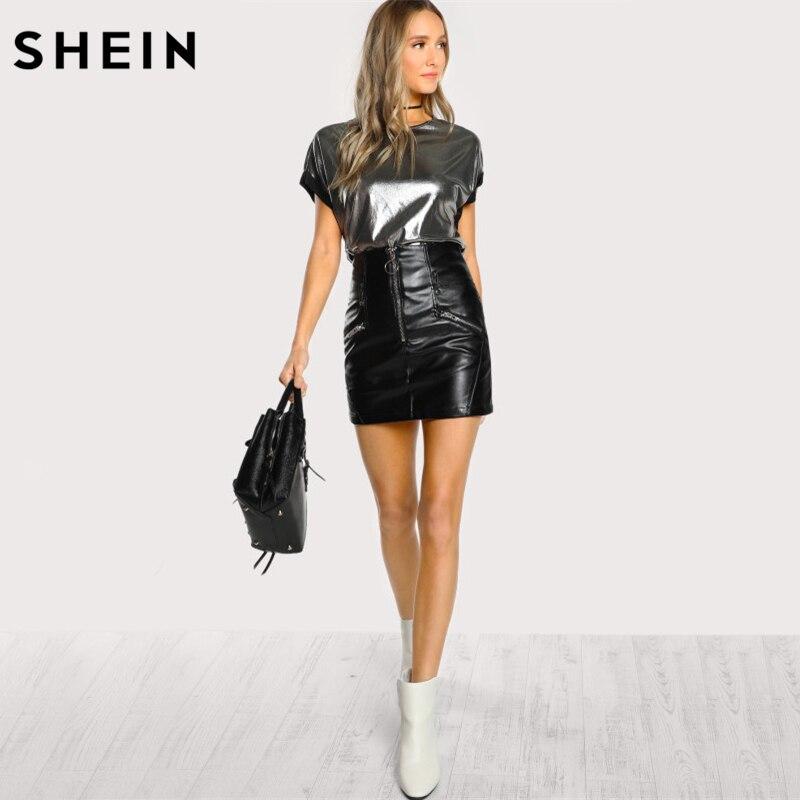Женская футболка с коротким рукавом и круглым вырезом, черная футболка с покрытием