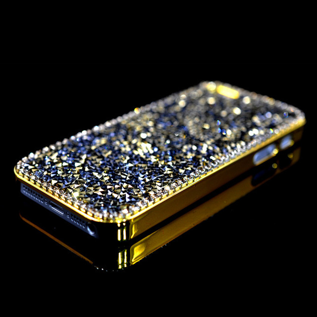 yellow logo with black gold finished iphone diamond store in lux