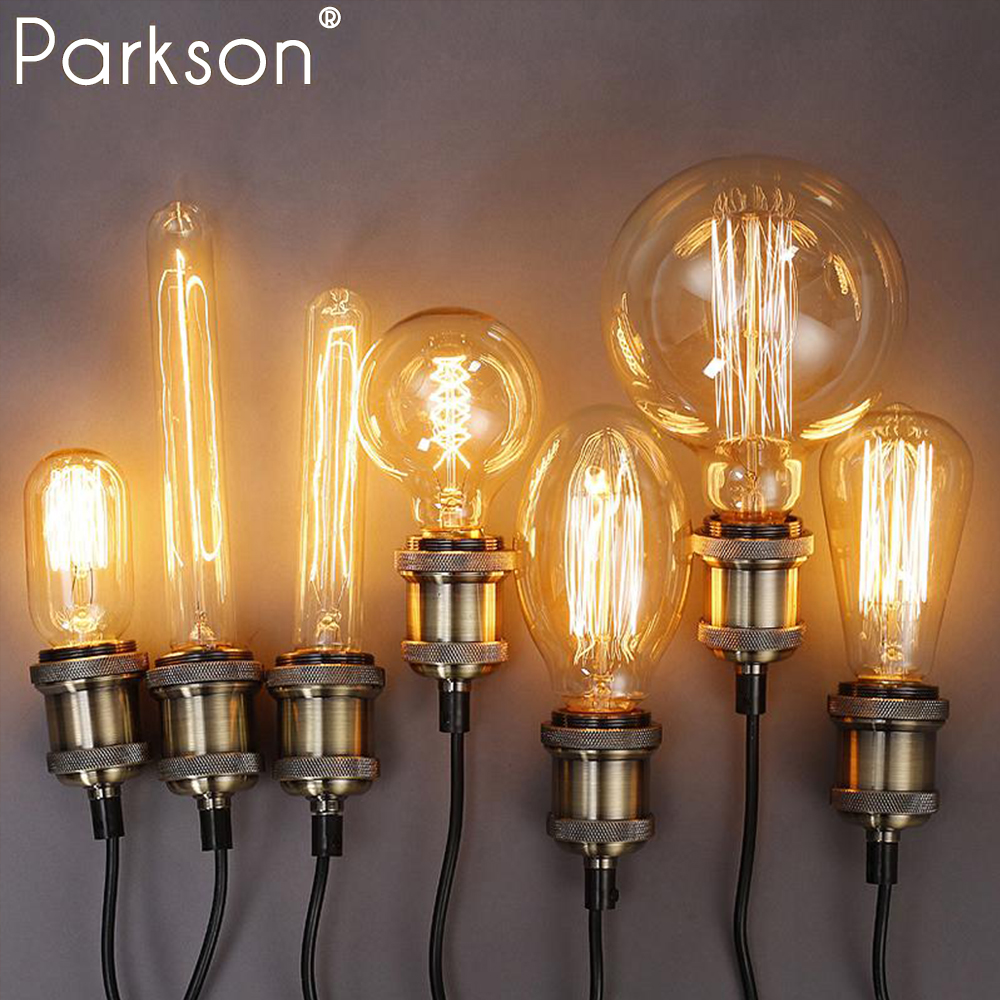 Edison bulb lampada retro lamp E27 40w 220V ampoule vintage lamp Edison bulb incandescent Filament light Bulb Antique For Decor lumiparty antique light bulb classical edison bulb e27 8w filament tubular nostalgic filament incandescent home lamp