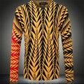 Homens Camisola 2016 Nova Primavera Outono Pullover de Lã de Malha de Design Da Marca de Moda Casual Slim Fit Polo Fina Camisola F1928